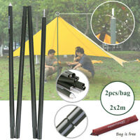 Camping Tent Pole Rain Tarp Trail Sun Shade Awning Shelter Canopy Support Kit LJ
