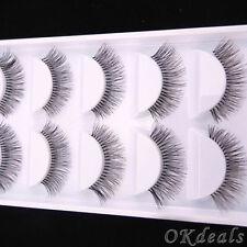 5Pairs Makeup Handmade Natural Long Thick False Eyelashes Charming Eye Lashes