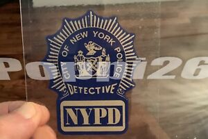 NYPD Detective NYC Police OFFICIAL IN/Window FACES/Out Decal Sticker NYS *Others