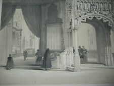 DAY & HAGUE LOUIS HAGHE LITHOGRAPH 1840 CATHEDRAL LOUVAIN BELGIUM GERMANY