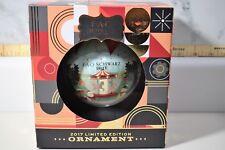"FAO Schwarz 4"" Large Ball Christmas Ornament Carousel 2017"