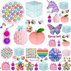5Pack/Set Fidget Toys Simple Dimple Stress Relief Infinity Cube Tools Bundle Toy