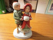 "Holly Hobbie Porcelain Figurine, ""Christmas Is Love"""