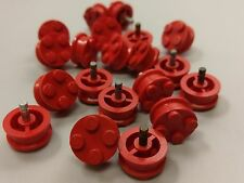 Bulk Lot Lego Part No.7039: Red Wheel Old with 4 Studs, Qty x 20