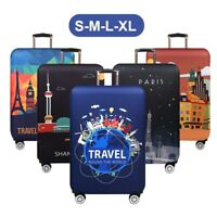 """18-32"""" Elastic Travel Protective Luggage Cover Suitcase Dustproof Protector Case"""