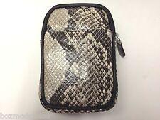 ili Italian Python Print Leather iPhone Camera Cigarette Pouch Mini Purse 4425