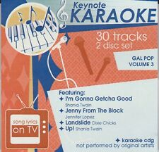 Keynote Karaoke: Gal Pop Vol. 3 (2-disc Cd+G, 2001, Top Tunes) Like New Free S&H