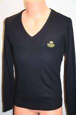 VTG Mens S IOWA HAWKS Black Gold Sweater Hawkeyes University McBriar V-Neck USA