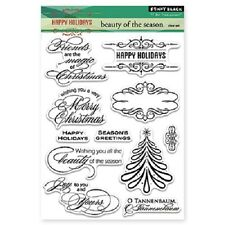 PENNY BLACK RUBBER STAMPS CLEAR BEAUTY OF THE SEASON STAMP SET