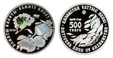 """Kazakhstan: 500 Tenge plata 2009  FLOR """"Almaty Aport"""" hologram BOX + COA"""