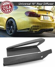 "18"" G3 Rear Bumper Lip Apron Wing Splitter Diffuser Canard w/ Vent For  Ford"