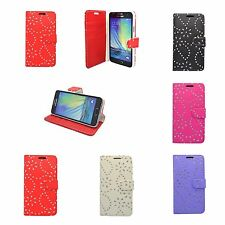FOR SAMSUNG GALAXY A3 GLITTER IN VARIOUS COLOURS PU LEATHER WALLET CASE COVER