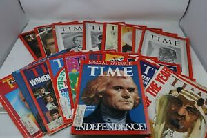Lot of 18 Time Magazines