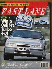 Fast Lane July 1992 McLaren F1 Calibra Turbo Astra BMW 535i Sport Audi S4 HCD-1