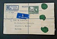 1959 Dar es Salaam Tanganyika To Brighton England Registered Airmail Cover