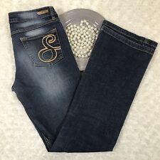 Southpole Womens Bootcut Jeans Size 7 Stretch Dark Blue Wash Denim KQ455