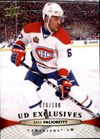 2011-12 Upper Deck Exclusives #105 Max Pacioretty /100 - NM-MT