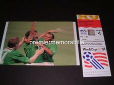 REPUBLIC OF IRELAND v ITALY 1994 WORLD CUP RAY HOUGHTON GOAL PHOTOGRAPH
