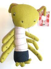 "Boogily Bunnies - Octobunny Green - 10"" - Collectors Plush Gus Fink Rocket USA"