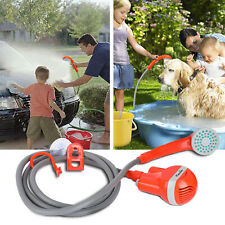 Outdoor Portable Shower Head Camping Water Pump Hiking Travel Rechargeable