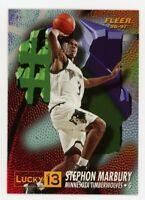 1996-97 Fleer Ultra STEPHON MARBURY Rookie Card RC LUCKY 13 REDEEMED #4 SP