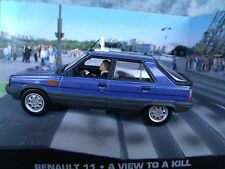 1/43 Renault 11 James Bond A View to Kill  007 series diorama
