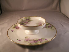 Vintage Hand Painted Nippon Two Tiered Serving Plate