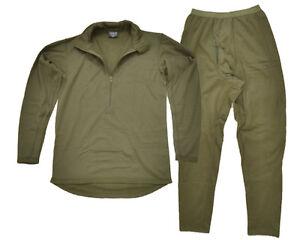 Third Generation ECWCS Thermal Underwear Olive - Winter Under Base Layer Set