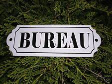 PLAQUE DE PORTE EMAILLEE bureau EMAIL VERITABLE 800°C FABRIQUEE EN FRANCE NEUVE