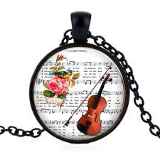 Collana con Ciondolo Violino partition con Note di Musica