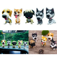 Lifelike Shaking Head Doll Puppy Nodding Dog Toys Home Decor Car Ornaments Gifts