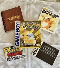 1995-99 Game Boy POKEMON Special Pikachu Edition Yellow Version BOX INSERTS ONLY