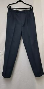 Mens M&S Indigo Crease Resistant Tailoring Trousers Size W36, L33 Mens Trousers