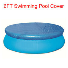 6FT Round Swimming Pool Cover For Intex Bestway Fast Set Family Swimming Pools
