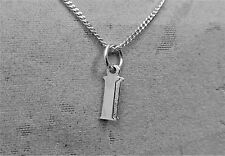 """Sterling Silver (925)  Solid 3D Charm Initial """"I"""""""
