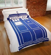 Doctor Who TARDIS Police Box Doppio Copripiumino & 2 X Federe Nuovo di Zecca