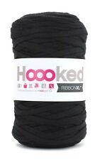 Hoooked ribbonxl 120M crochet punto tejer hilado de de Algodón-Caballero Negro