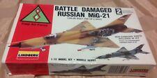 Iraq/Iraqi Air Force, BATTLE DAMAGE RUSSIAN MiG -21, Lindberg 1/72 Model Kit.