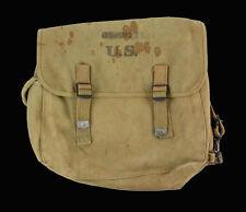 Musette US M36 en toile caoutchoutée, nominative WW2 1943 (matériel original)