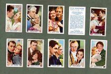 Tobacco cigarette cards set Film Partners 1935 Clark Gable & Joan Crawford,