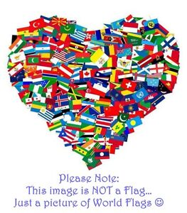 International Desk Flag 15cm x 10cm All Countries available- see description