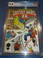 Secret Wars II #4 Avengers X-men CGC 9.8 NM/M Gorgeous gem Wow