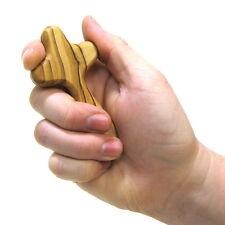 Comfort Cross Palm Handheld Clinging Olive Wood Hand Carved Bethlehem Holy Land