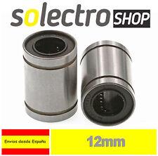 2x Rodamiento Lineal Lm12uu 12mm Cojinete Bolas Impresora 3d Reprap Prusa I0069