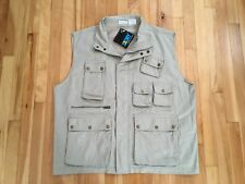 TravelSmith 3XDRY Multipocket Vest Men's Size XXL in Khaki w/ Lots of Pockets