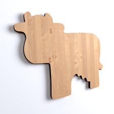 10x Kuh Tier blank Form Holz Basteln Bemalen Aufhängen Dekoration (V48)