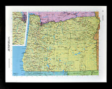 c1970 McNally Cosmo Map - Oregon - Portland Eugene Salem Klamath Falls Coos Bay