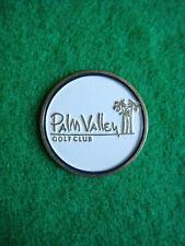 "Palm Valley Golf Club Ball Marker 1"" Metal Flat Coin Ahead - Goodyear, Arizona"