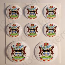 Pegatinas Antigua y Barbuda Escudo de Armas Vinilo 3D Relieve Pegatina Coche