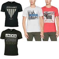Jack & Jones Printed Mens TShirt Slim Fit Crew Neck Short Sleeve Casual Tee Tops